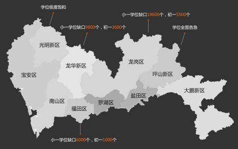 深圳学位告急地图:6区拉警报这些学校极度饱和