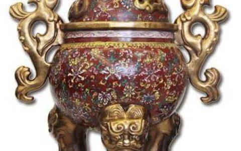 大明宣德年製款紫砂画珐琅香薰炉赏析及中能拍卖鉴定出手