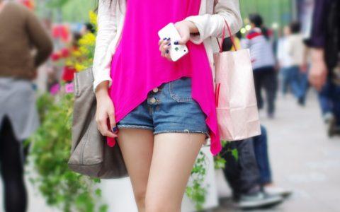 夏季上海街上性感女孩图片大全