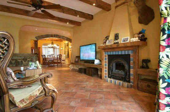 客厅地砖哑光仿古砖将客厅打造出回归自然的清新