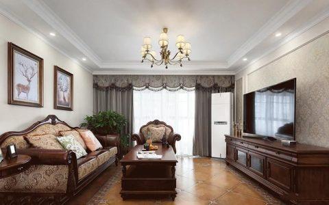 美式风格客厅仿古砖装修设计效果图