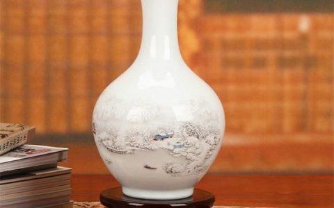 它是花瓶也是摆件将它摆放于客厅卧室书房增添艺术气息。