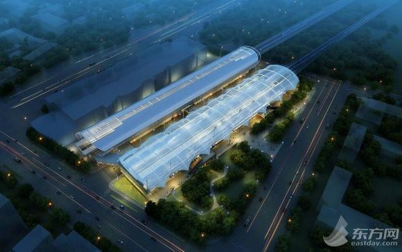 6号线龙阳路站主结构施工进入尾声