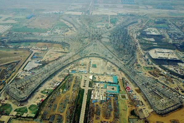 从新机场钢结构封顶看网架施工图识图